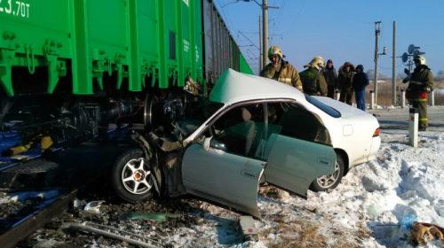 Тойота столкнулась с локомотивом